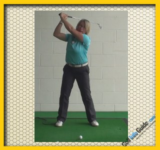 Stop Lifting And Start Swinging Your Golf Club, Golf Tip For Women 1