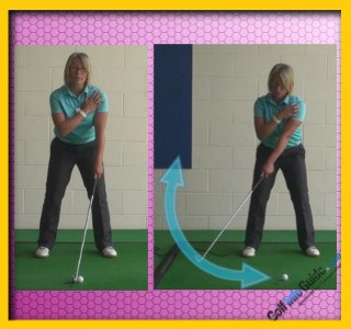 Takeaway Correct Shoulder Turn, Golf Swing Tip For Women 1