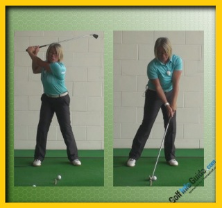 Which Is Best Sweeping Swing or Take a Divot Women Golfer Tip 2