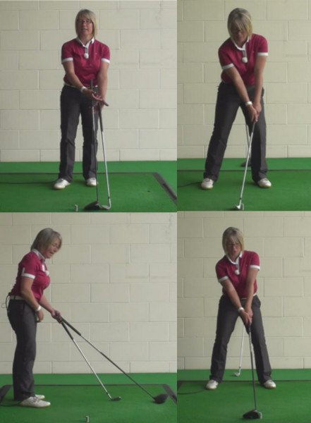 Driver Vs Iron Swing. The Correct Start Position And Swing For Ladies To Use When Playing Their Best Golf Shots 1