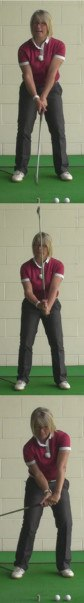 How Ladies Can Improve Their Golf Shots With The Hinge Golf Drill 1