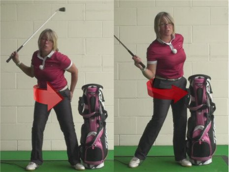 How To Rotate Your Body Without Sliding During A Golf Shot. The Best Ladies Golf Tip 1