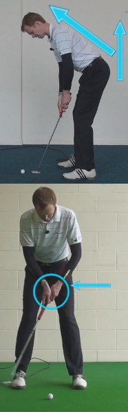 Open Stance, Free Wrists on Long Putts 1