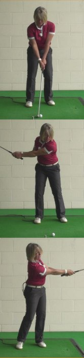 The Problem Of Decelerating On Long Chip Shots And How To Fix This During Your Golf Shot. Women Golfers Golf Tip 1