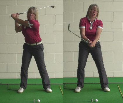 What Is An Over The Top Golf Swing And The Best Golf Tip To Help Women Golfers Correct This Problem 1