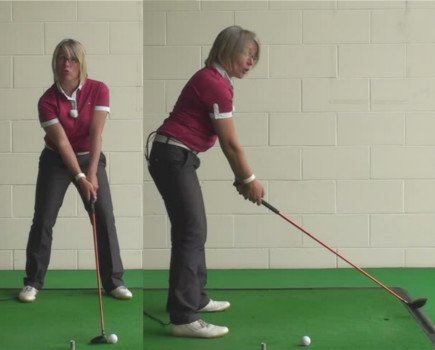 Correct Swing For Women Golfers Playing 3 Wood Shots Off