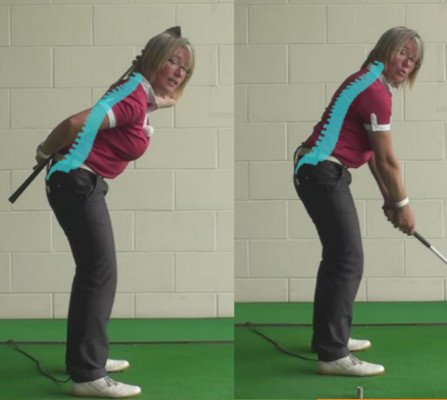 What Is The Correct Spine Tilt For Women Golfers During Their Golf Swing And How To Create This Position From The Start Of The Golf Swing 1