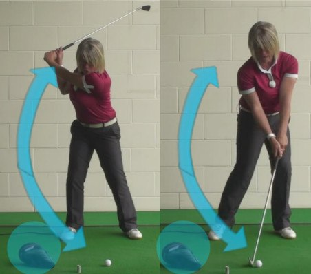 Why Women Golfers Need To Strike Down During Their Golf Shots And How To Achieve This 1