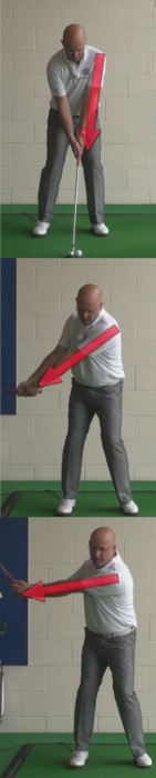 Best Way To Time Your Backswing - Left Arm And Shoulder Stay Together - Senior Golf Tip 1