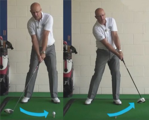 Get Longer Drives - Sweep The Club head Upward Through Impact - Senior Golf Tip 1