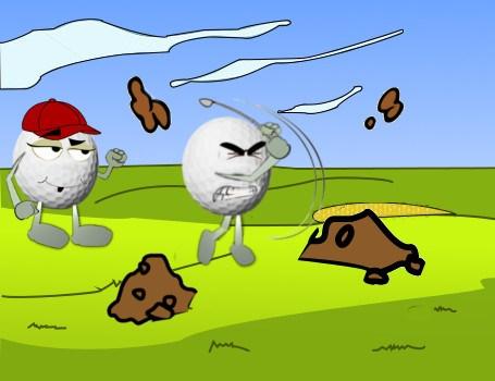The Human Bulldozer Golf Joke 1