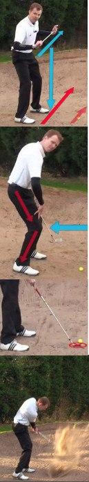 Flatten Swing to Hit Spinning Sand Shots, Golf Tip