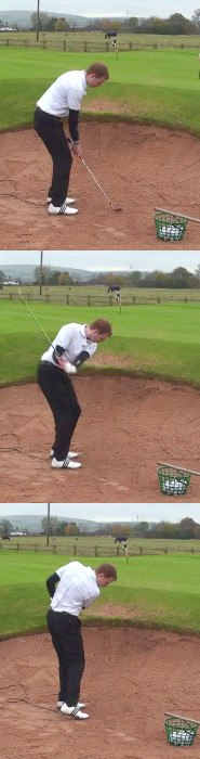 Golf  Bunker Practice Drill For The Correct Amount Of Sand