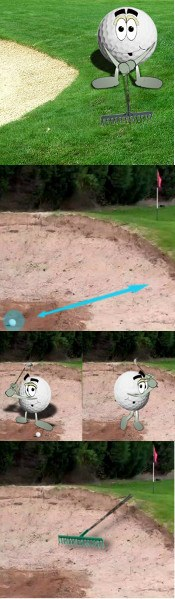 Golf Bunker Rules And Etiquette, Raking The Sand