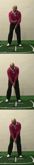Senior Hybrid Golf Clubs Ball Position
