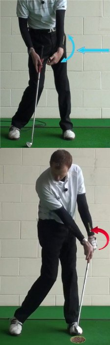 Bowed Left Wrist to Square Clubface, Golf Tip