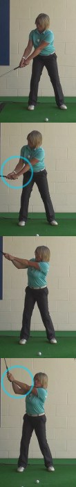 Correct Wrist Hinge In The Ladies Golf Swing