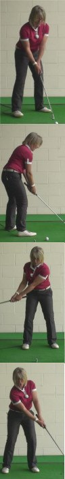 How To Hit A Long Greenside Bunker Shot, Ladies Golf Tip