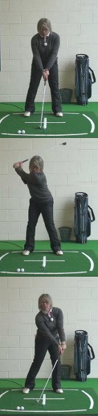 Lean Shaft Forward For Best Iron Shots, Ladies Golf Tip