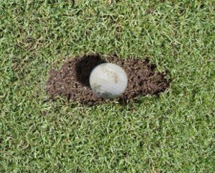 Mud Ball Golf Term
