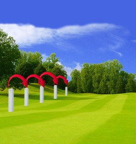 Out of bounds (O.B.) Golf Term