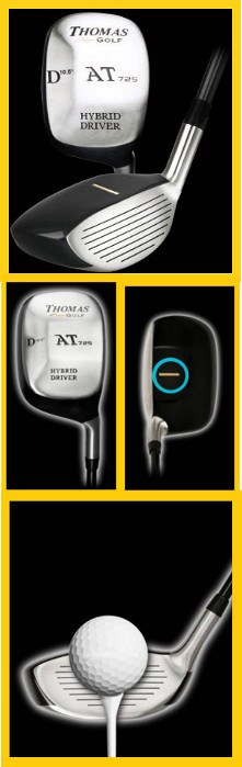 Square Root Your Game With Thomas Golf AT725 Square Hybrid Drivers