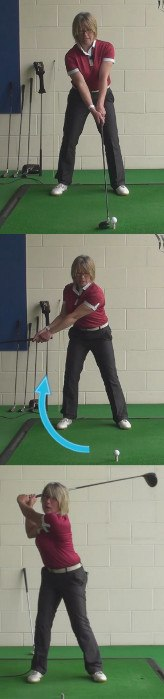 Watch Ladies Pros To Hit Longer Drives, Golf Tip