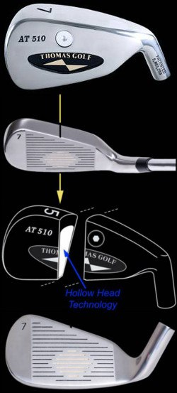 AT510 Hollow MOI Irons by Thomas Golf