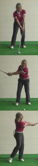 How Women Golfers Should Create The Basic Start Position And Golf Swing For An Effective Punch Shot 1