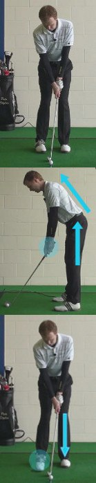 Stand farther from the ball with your arms extended
