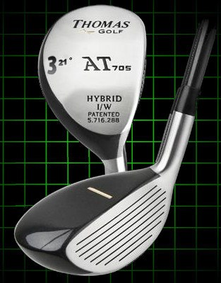 Thomas Golf AT705 Number 3 Hybrid Club 21 degree loft