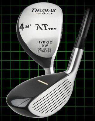 Thomas Golf AT705 Number 4 Hybrid Club 24 degree loft