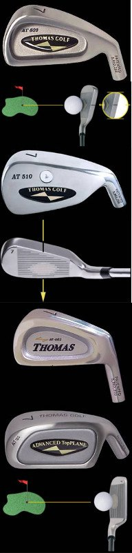 Thomas Golf Irons With Patent Alignment Indicator