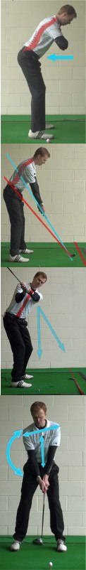 correct golf answer Maintain consistent spine angle throughout the swing