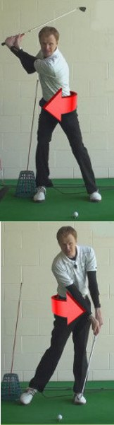 Does The Left Hip Move Upwards In The Down Swing golf tip