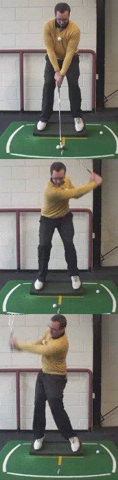 Left Hand Golf Tip How Best to Hit a Golf Ball That is Below Your Feet