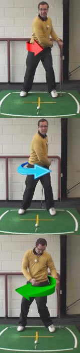 Left Hand Golf Tip How The Hips Should Be At Address And Impact
