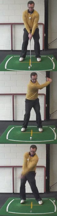 Left Hand Golf Tip The Correct Way To Hit A Golf Ball That Is Above Your Feet
