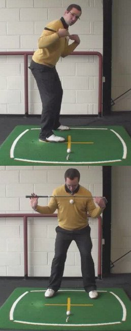 Left Hand Golf Tip What Is The Right Shoulder Alignment