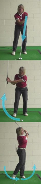 answer Grip down on the club and accelerate through impact