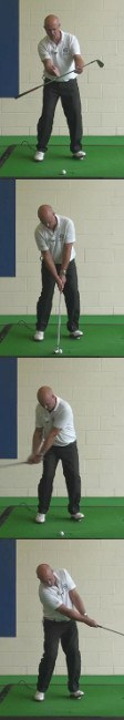 Correct Golf Answer A low shot that lands on the edge of the green and rolls out to the hole the correct distance