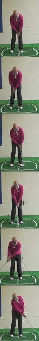 Correct Golf Answer Accelerate the putter through impact