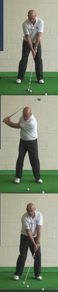 Correct Golf Answer Drive down and steep into the ball