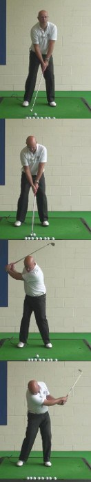 Correct Golf Answer Drive the bodyweight forward