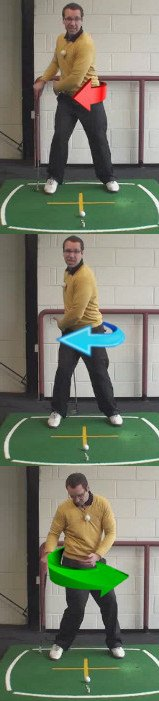 Correct Golf Answer Focus on leading with the hips during the down swing