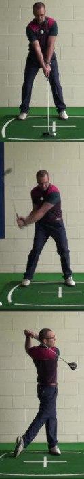 Correct Golf Answer Good set up and sweep the ball away