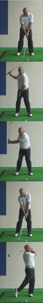Correct Golf Answer Move the body weight forward - lift the back heel