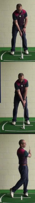 Correct Golf Answer Play safe and aim for the heart of the green