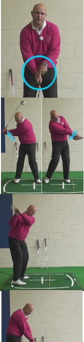 Correct Golf Answer Swing from the inside and rotate