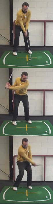 Correct Golf Answer Use a high lofted club and a shallow angle of attack